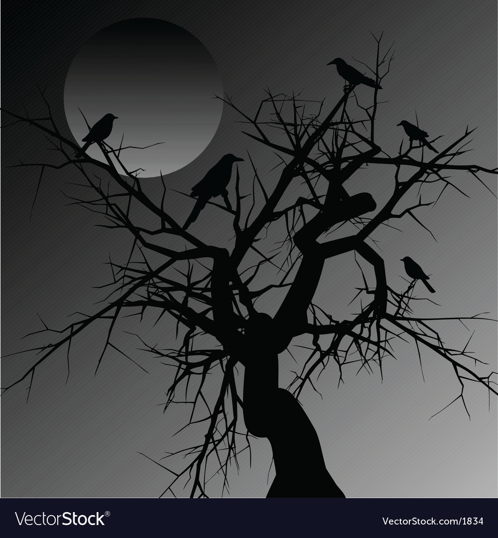 Scary tree vector | Price: 1 Credit (USD $1)