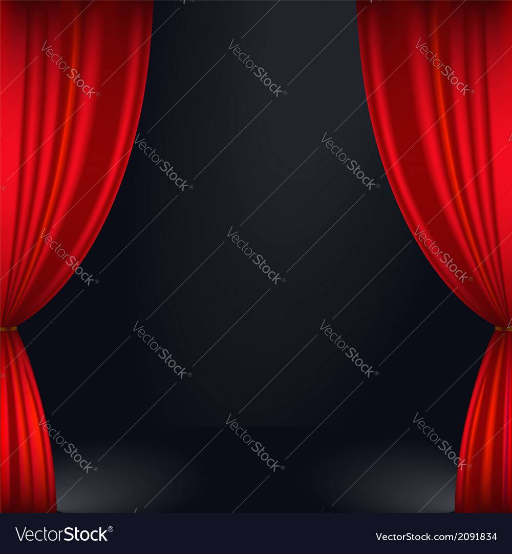 Stage curtain vector | Price: 1 Credit (USD $1)