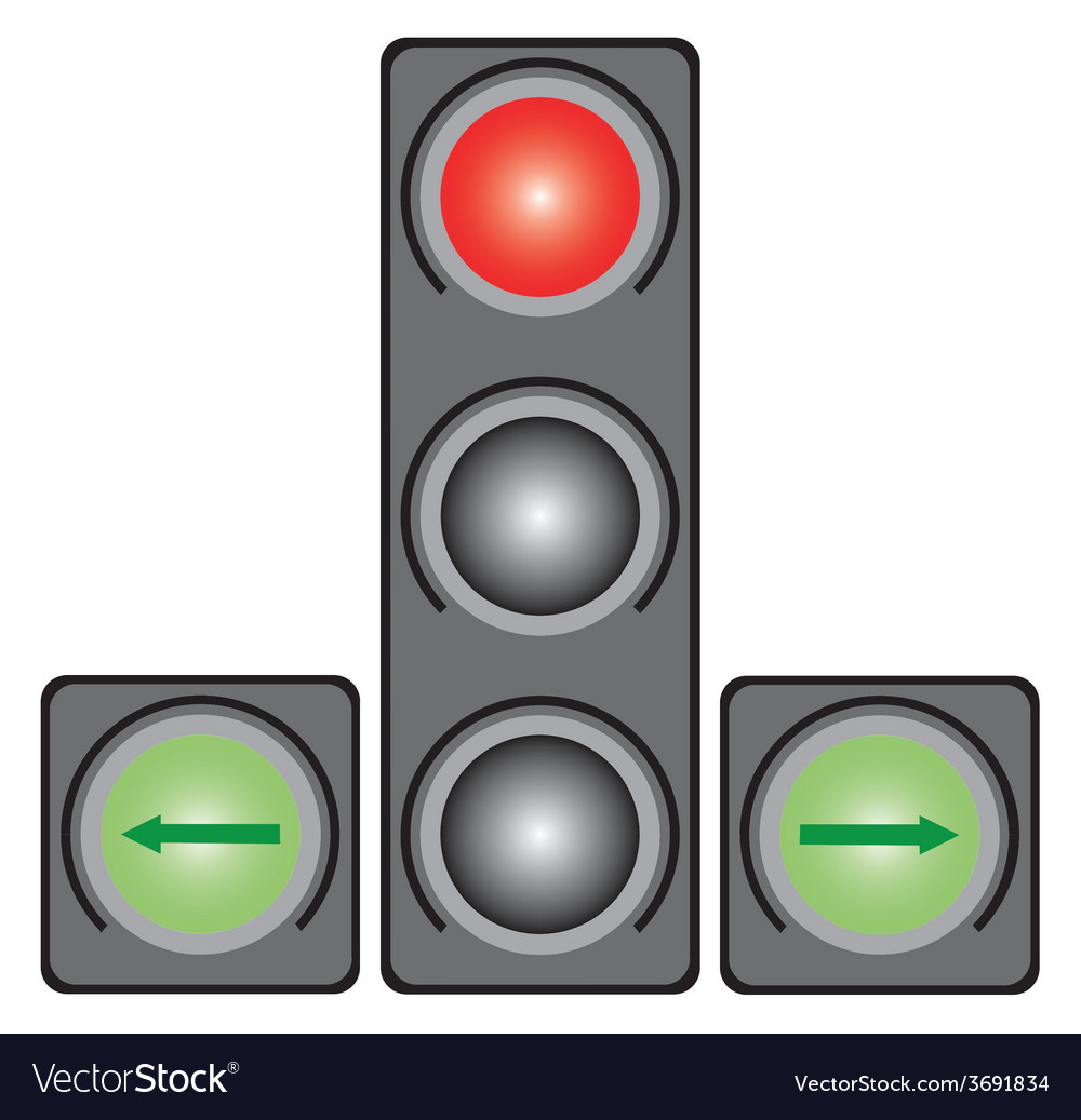 Traffic light for cars vector | Price: 1 Credit (USD $1)