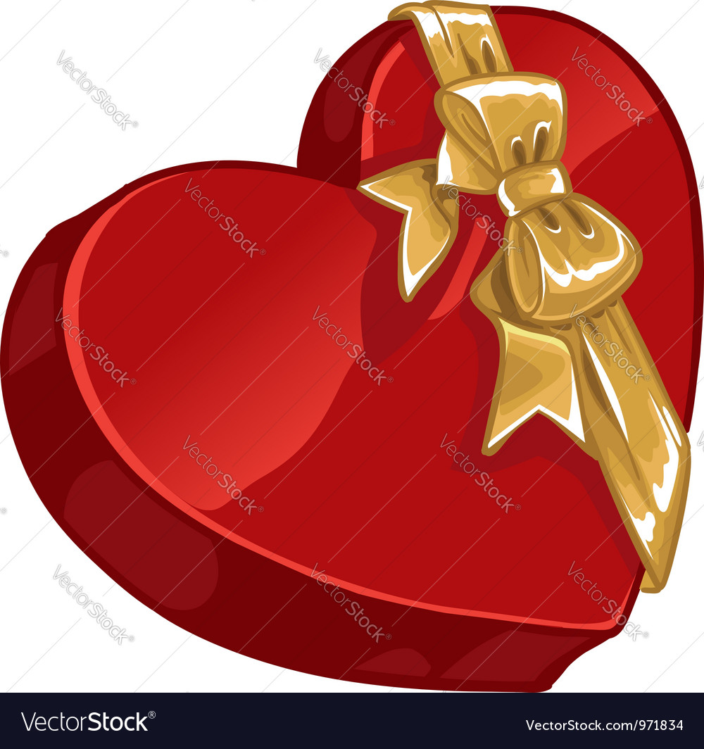 Valentines day gift candy with gold decorative vector | Price: 1 Credit (USD $1)