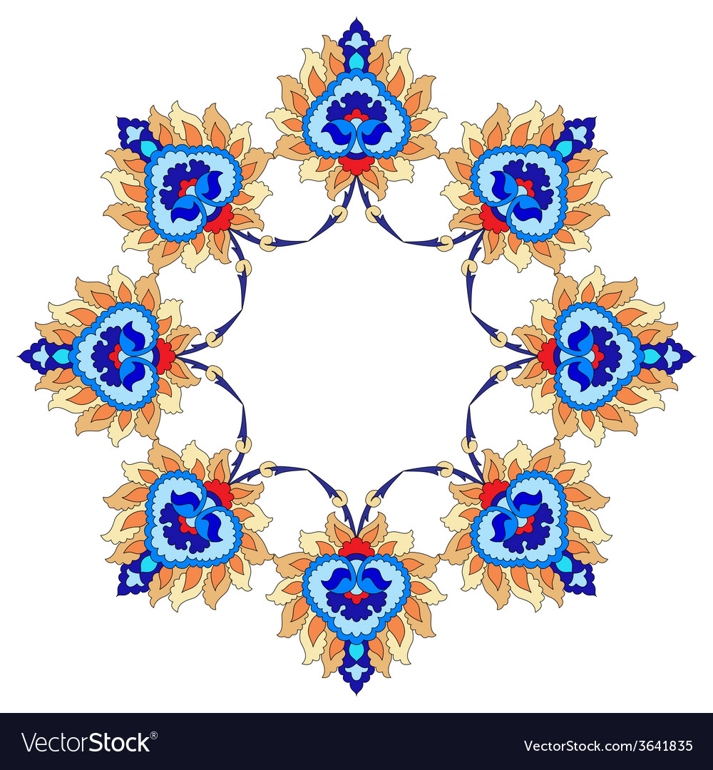Artistic ottoman pattern series fourty nine vector | Price: 1 Credit (USD $1)
