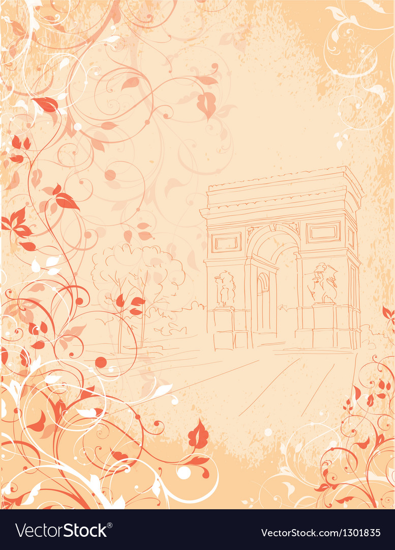 Background arc de triomphe paris france vector | Price: 1 Credit (USD $1)