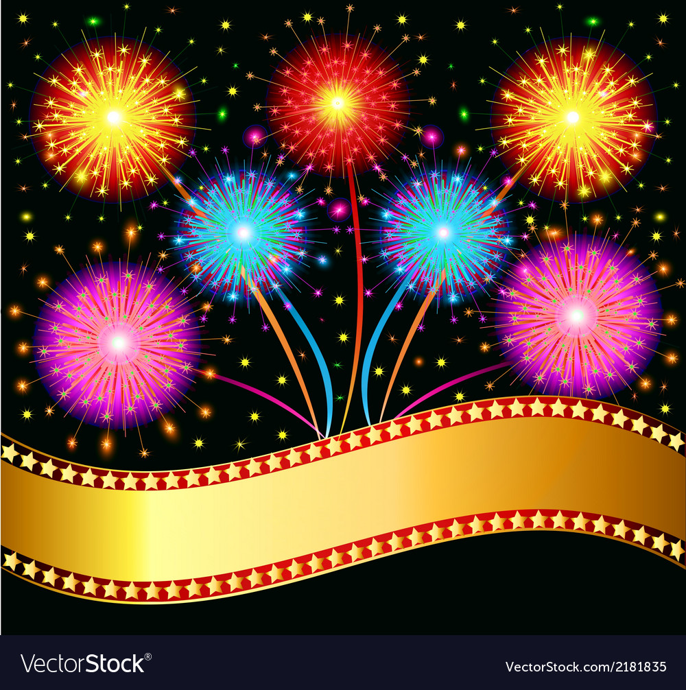 Bright salute firework vector | Price: 1 Credit (USD $1)