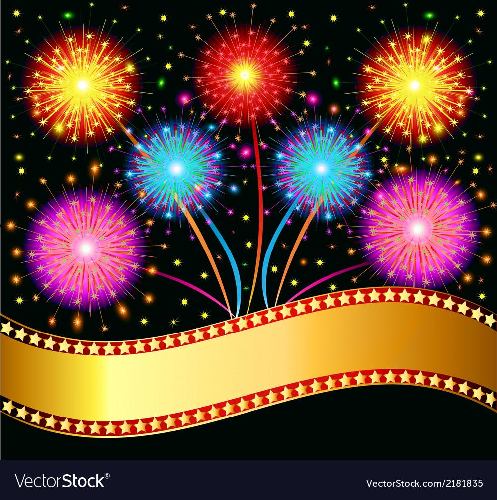 Bright salute firework vector | Price: 1 Credit (USD $1)