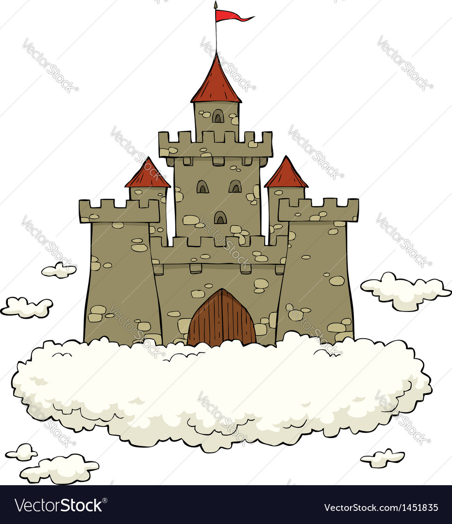 Cloud castle vector | Price: 1 Credit (USD $1)