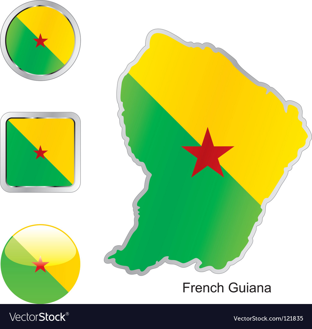 French guiana vector | Price: 1 Credit (USD $1)