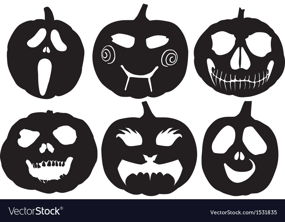 Halloween pumpkin silhouette vector | Price: 1 Credit (USD $1)