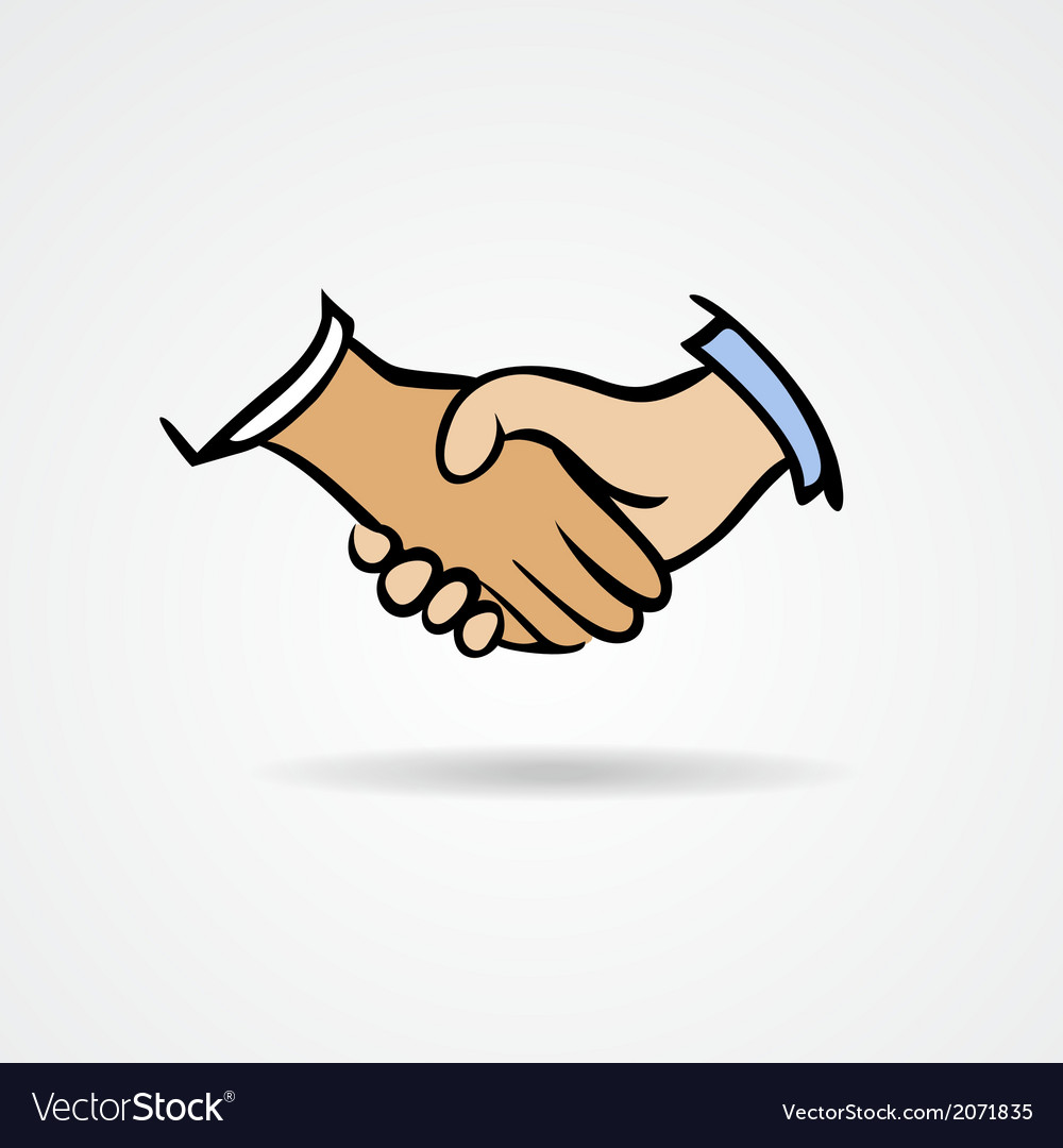 Handshake sketch symbol vector | Price: 1 Credit (USD $1)