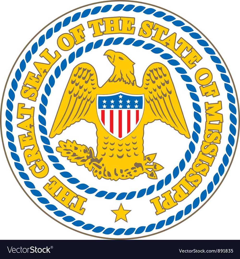 Mississippi seal vector | Price: 1 Credit (USD $1)