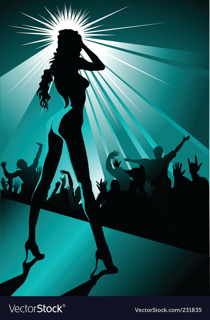 Night striptease vector | Price: 1 Credit (USD $1)