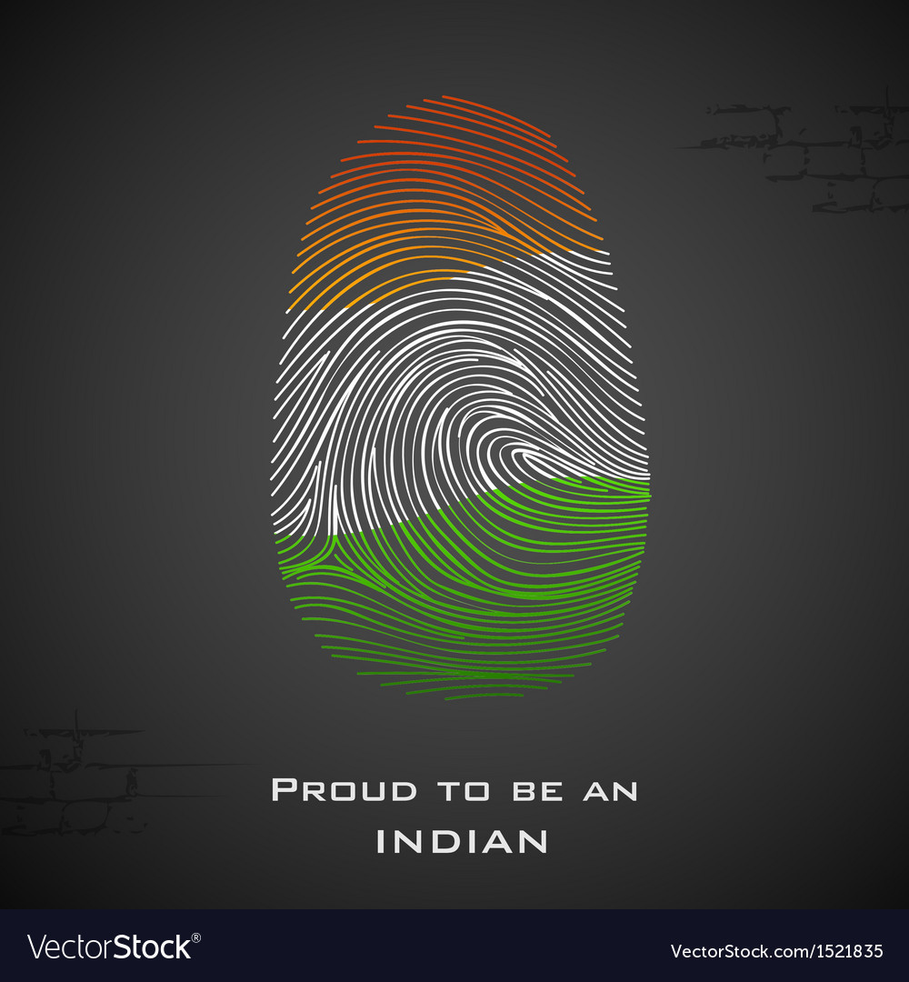 Proud to be an indian vector | Price: 1 Credit (USD $1)