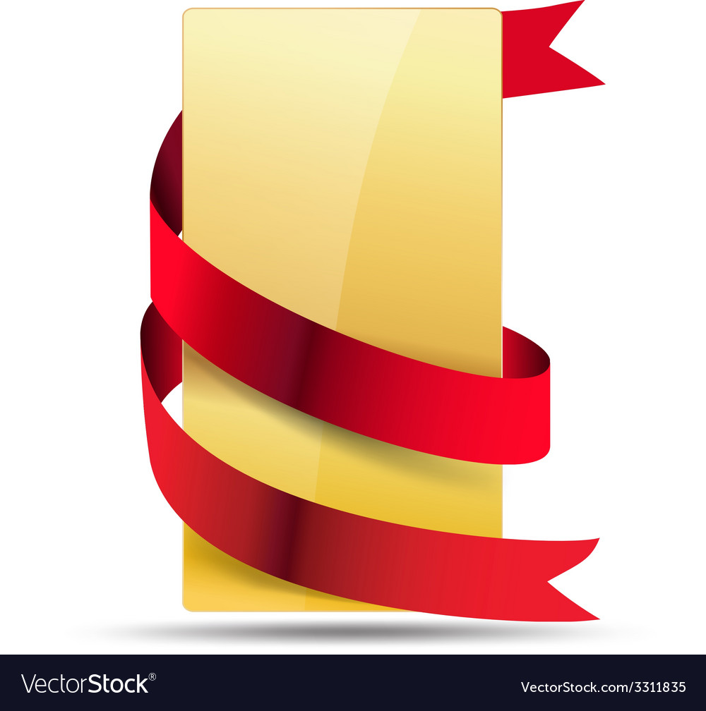 Ribbon card vector | Price: 3 Credit (USD $3)