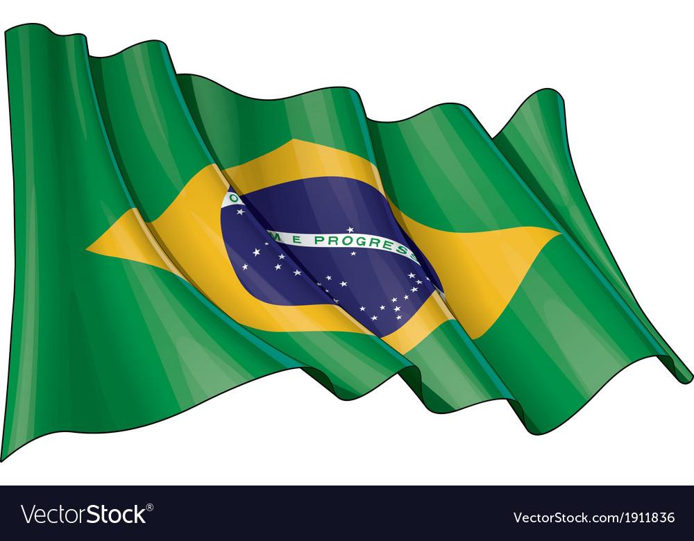 Brazil flag vector | Price: 1 Credit (USD $1)