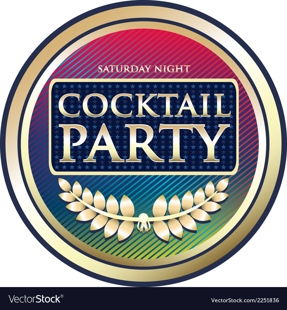 Cocktail party exotic label vector | Price: 1 Credit (USD $1)