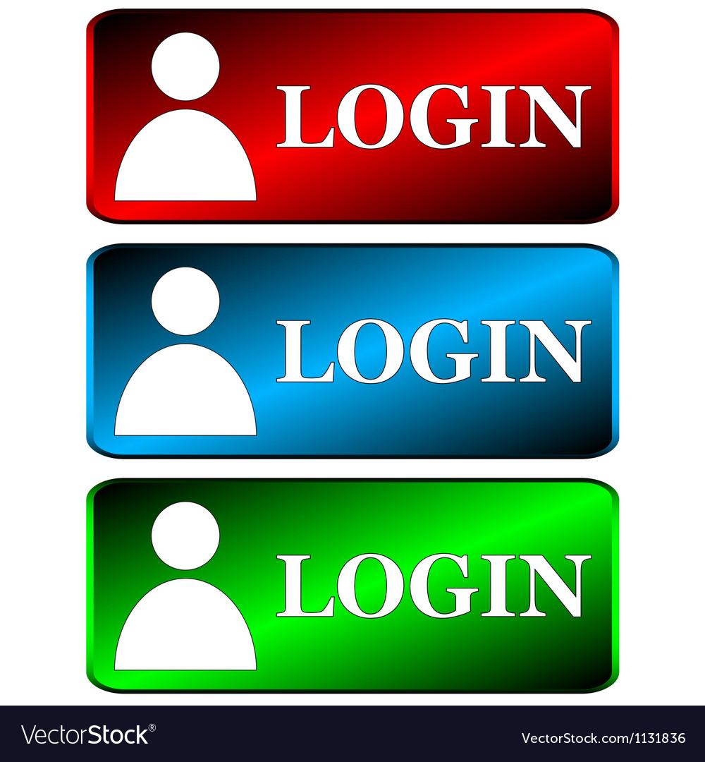 Login icons set vector | Price: 1 Credit (USD $1)