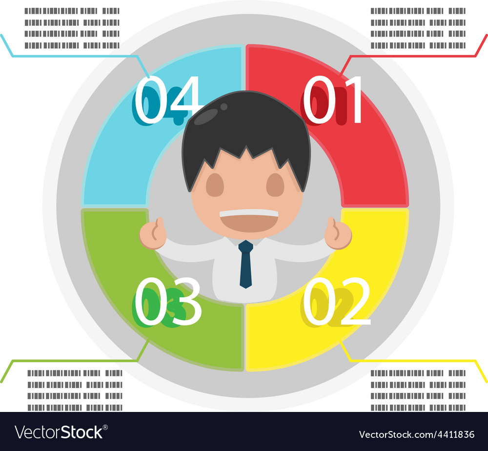Man info graphic plan circle colorful vector | Price: 1 Credit (USD $1)