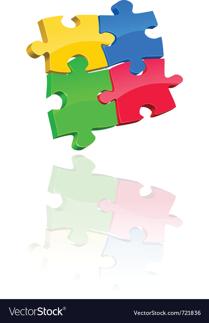 Multicolored jigsaw puzzle vector | Price: 1 Credit (USD $1)
