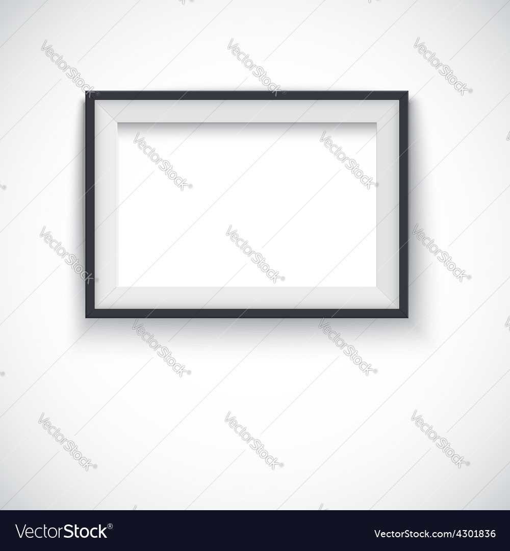 Picture wood frame horizontal  for image vector | Price: 1 Credit (USD $1)