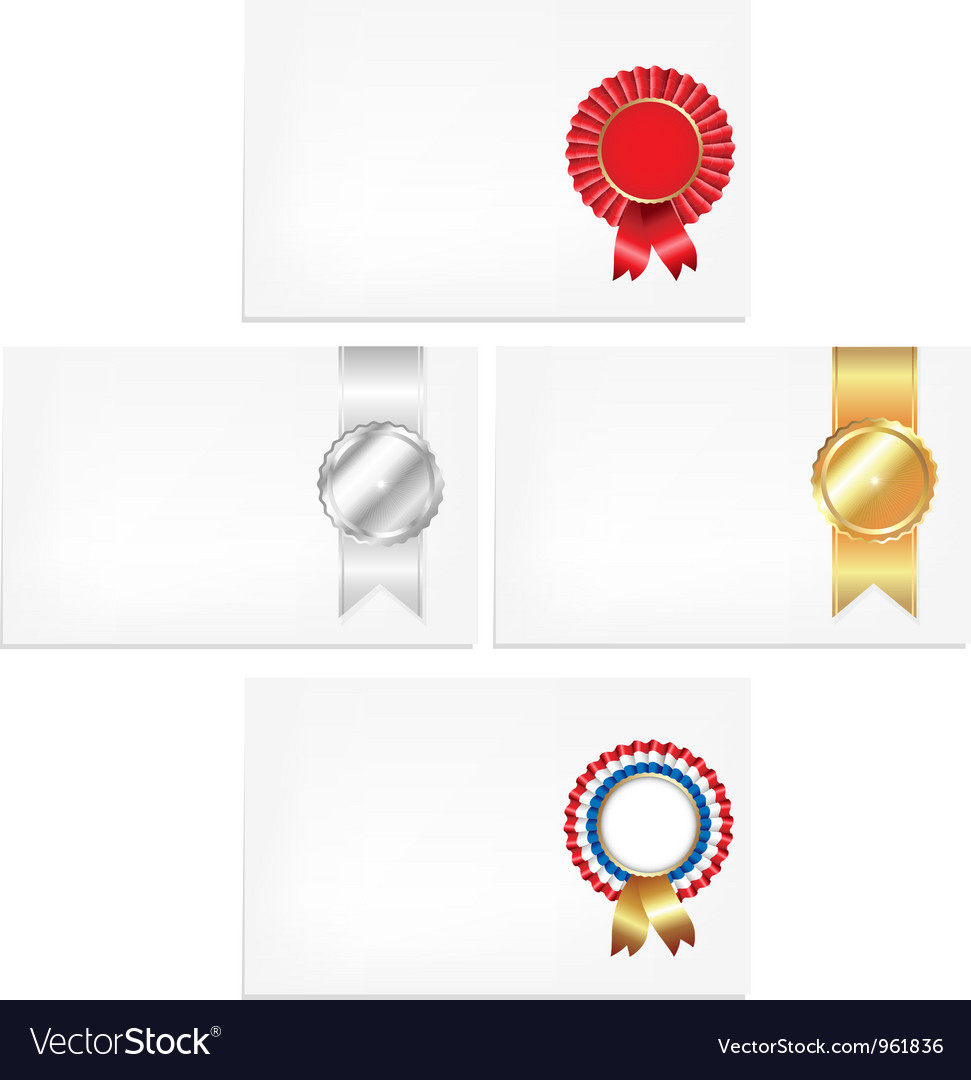 Prize ribbon note vector | Price: 1 Credit (USD $1)