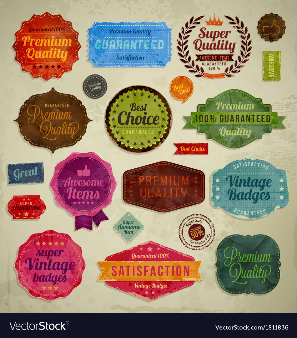 Retro vintage badges vector | Price: 1 Credit (USD $1)