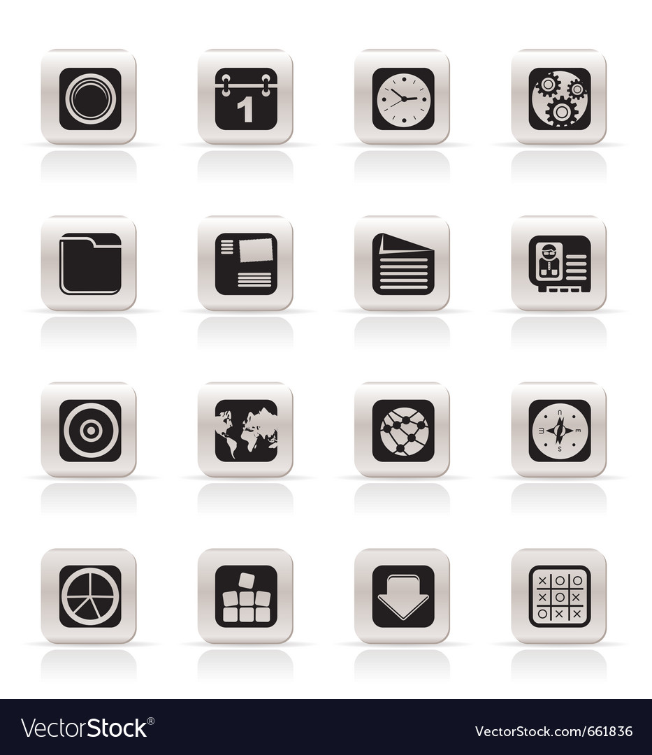 Simple mobile phone and computer icons vector | Price: 1 Credit (USD $1)