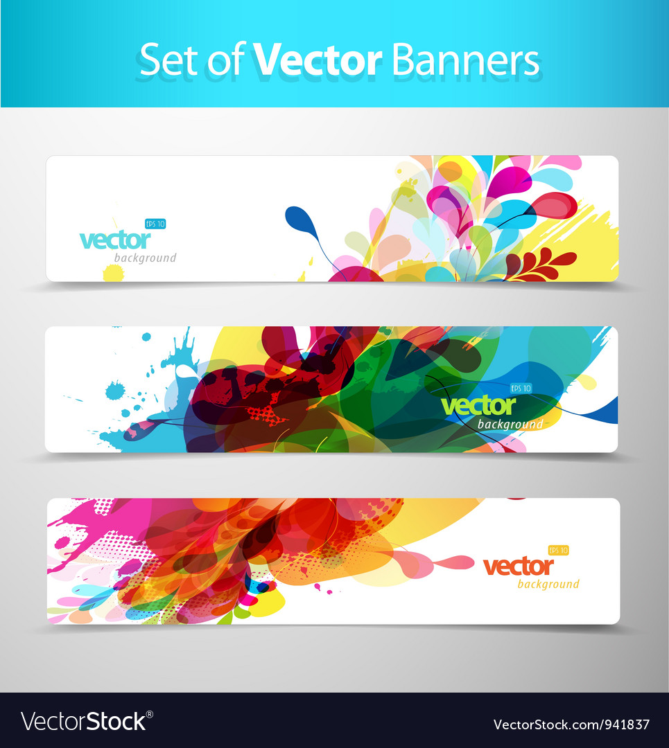 Abstract floral banner vector | Price: 1 Credit (USD $1)