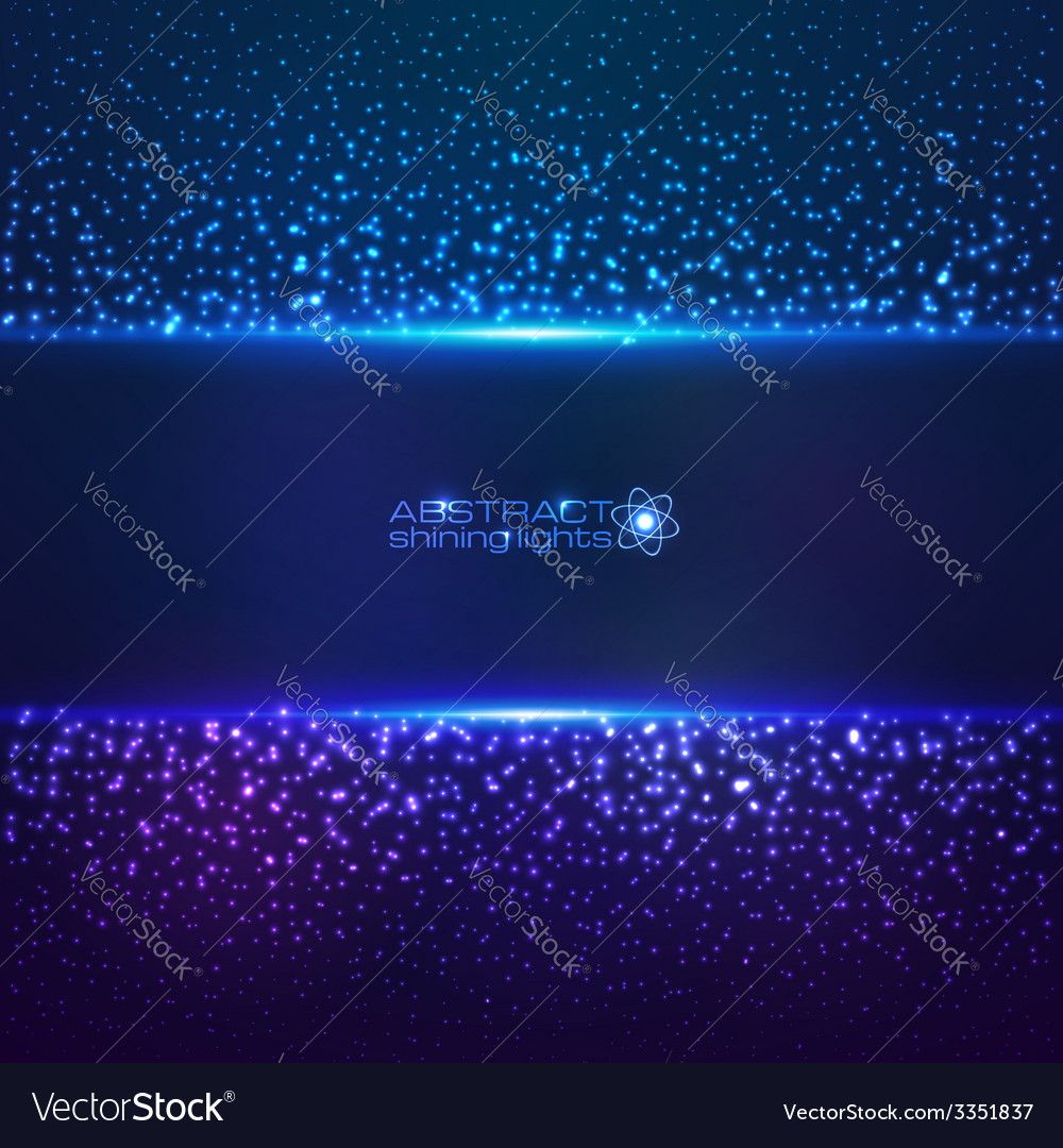 Blue cosmic star dust abctract background vector | Price: 1 Credit (USD $1)