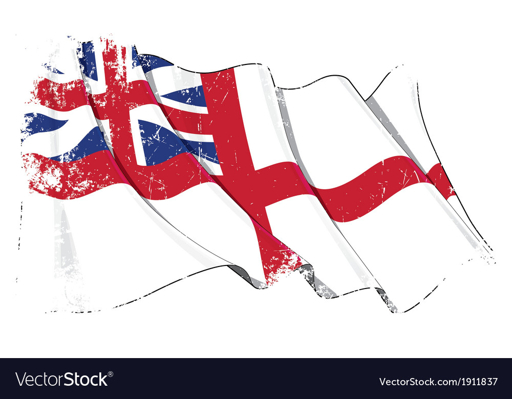 British navy flag 1606 1801 the kings colours vector | Price: 1 Credit (USD $1)
