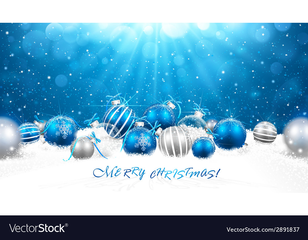Christmas balls in snow vector | Price: 1 Credit (USD $1)