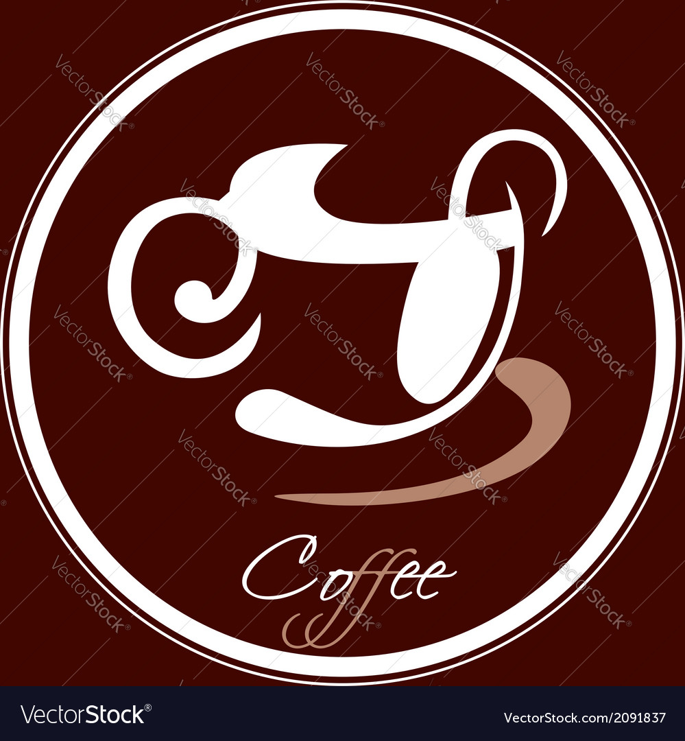 Coffee cup icon in a circle vector | Price: 1 Credit (USD $1)
