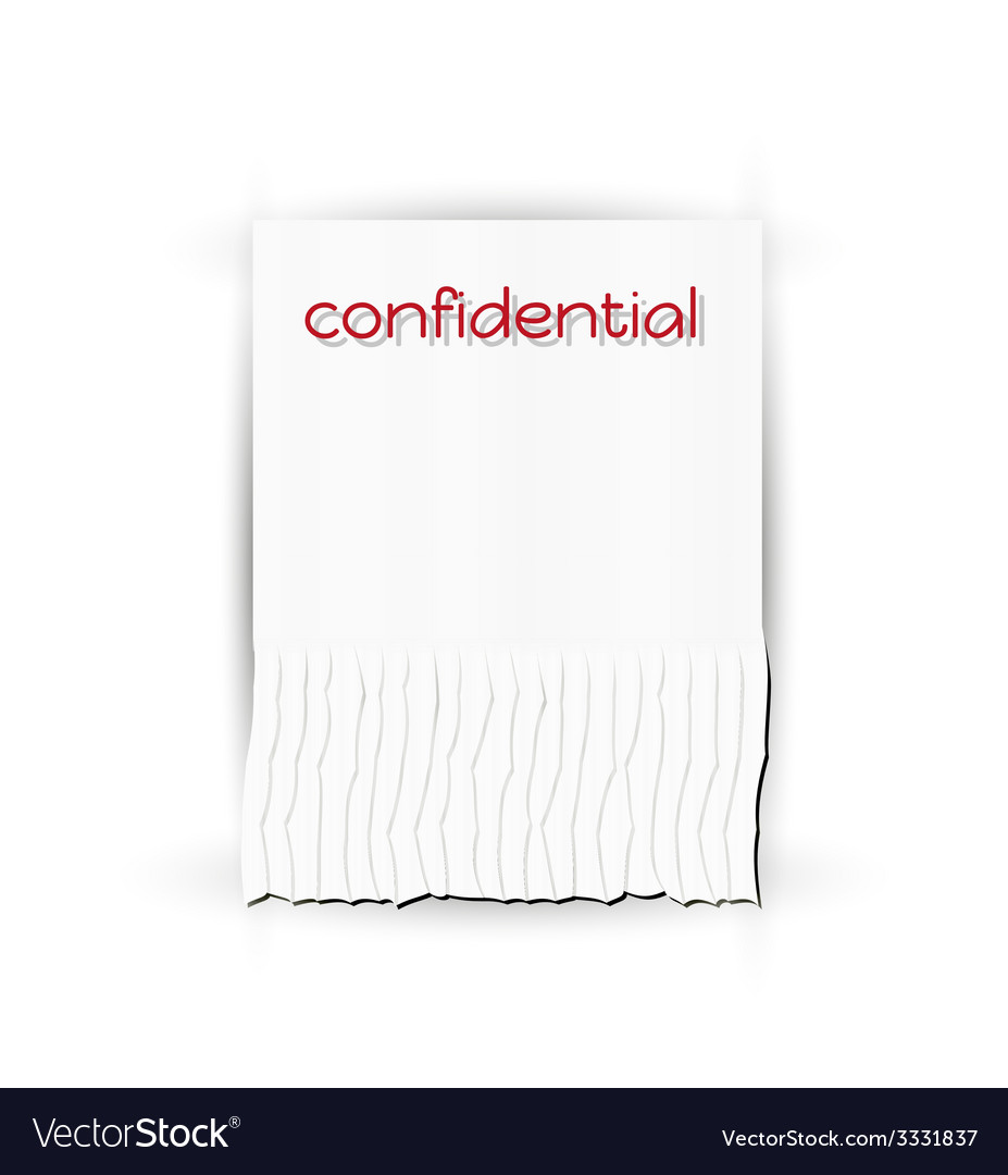 Confidential paper vector | Price: 1 Credit (USD $1)
