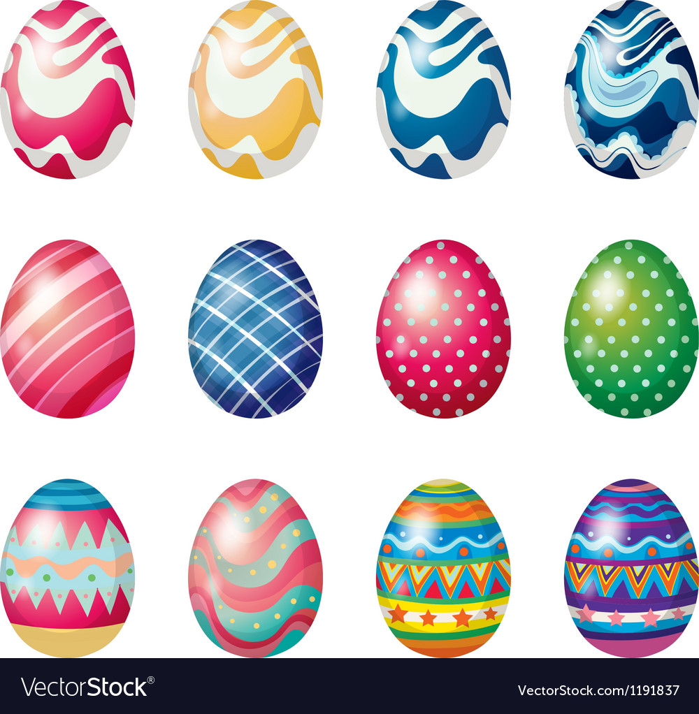 Easter eggs for the easter sunday egg hunt vector | Price: 1 Credit (USD $1)