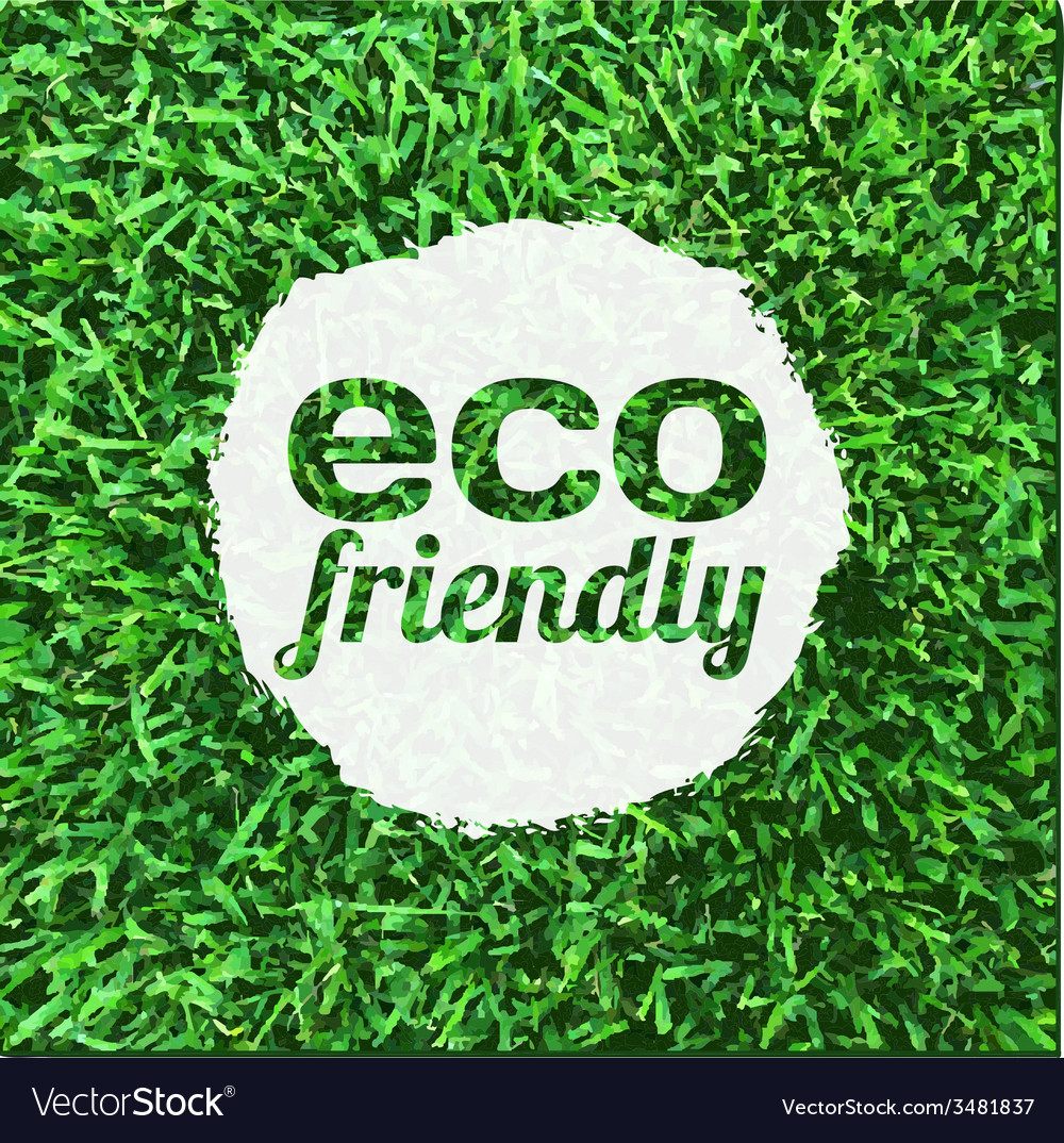 Eco friendly banner vector | Price: 1 Credit (USD $1)