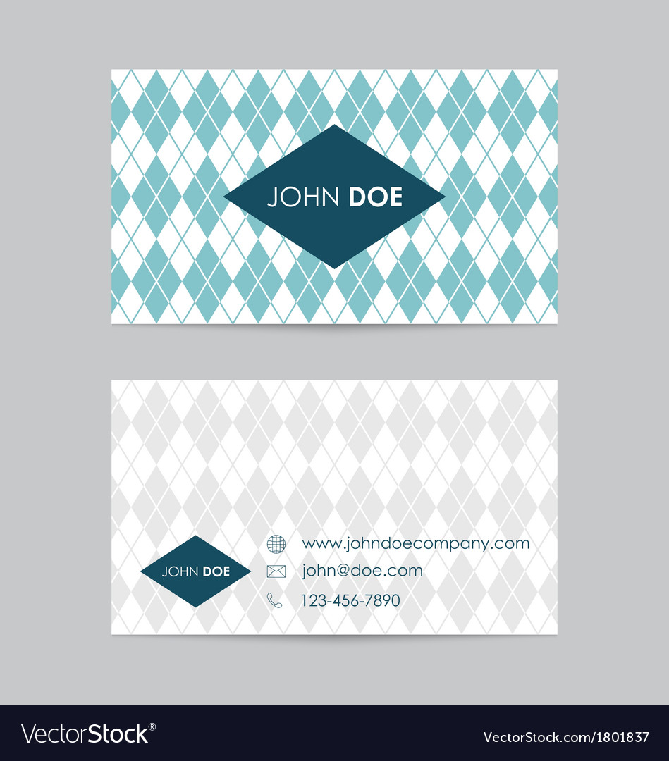 Editable business card template vector | Price: 1 Credit (USD $1)