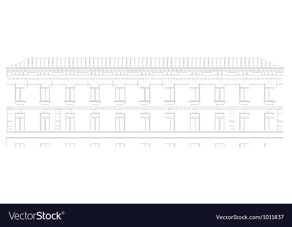 The facade of the building vector | Price: 1 Credit (USD $1)