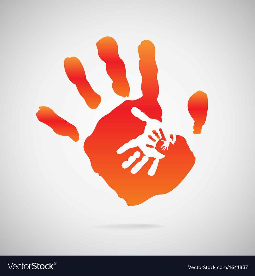 Hand color vector | Price: 1 Credit (USD $1)