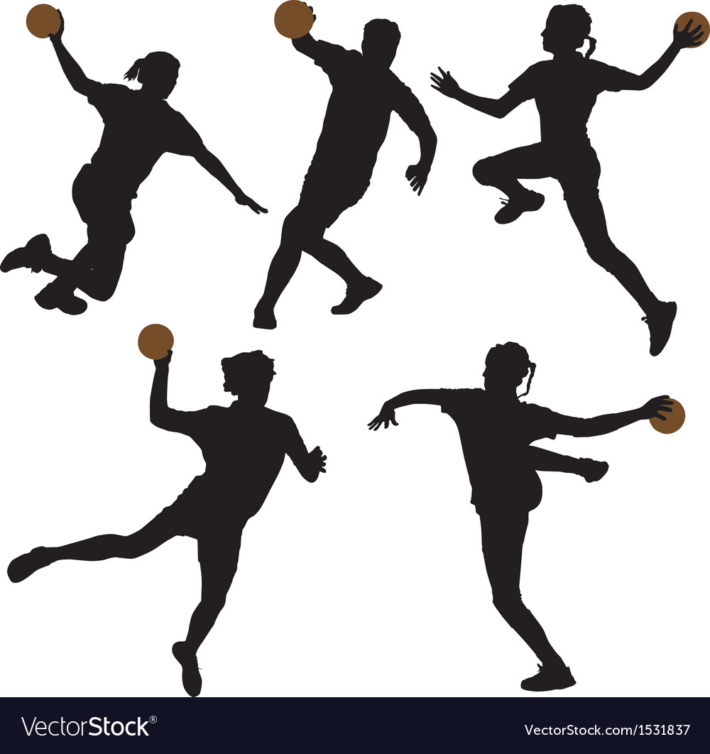 Handball silhouette vector | Price: 1 Credit (USD $1)