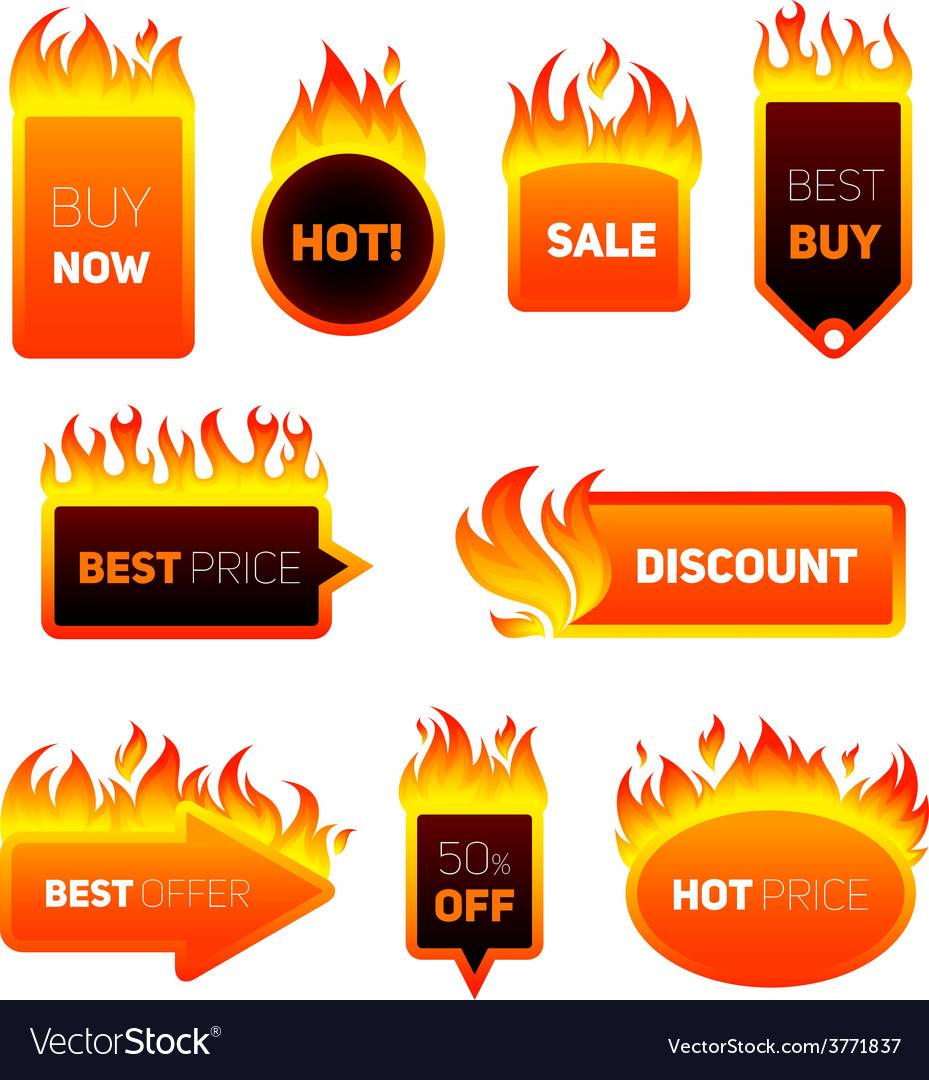 Hot price badges vector | Price: 1 Credit (USD $1)