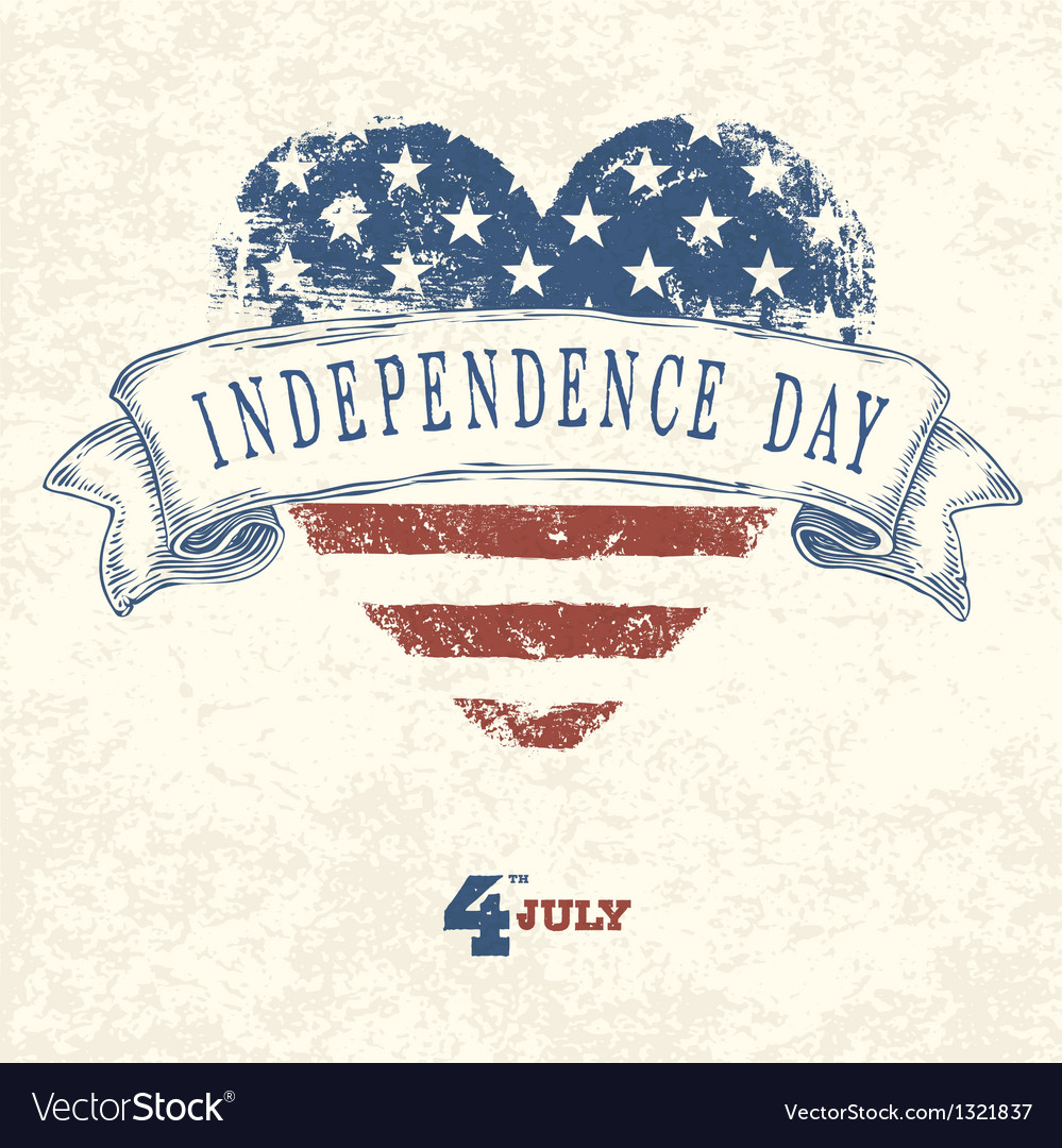 Independence day concept card vector | Price: 1 Credit (USD $1)