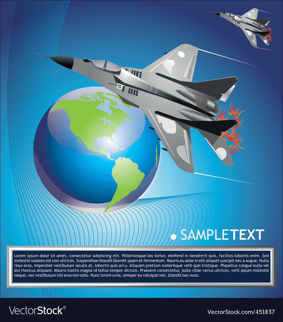 Jet fighter aircraft vector | Price: 1 Credit (USD $1)