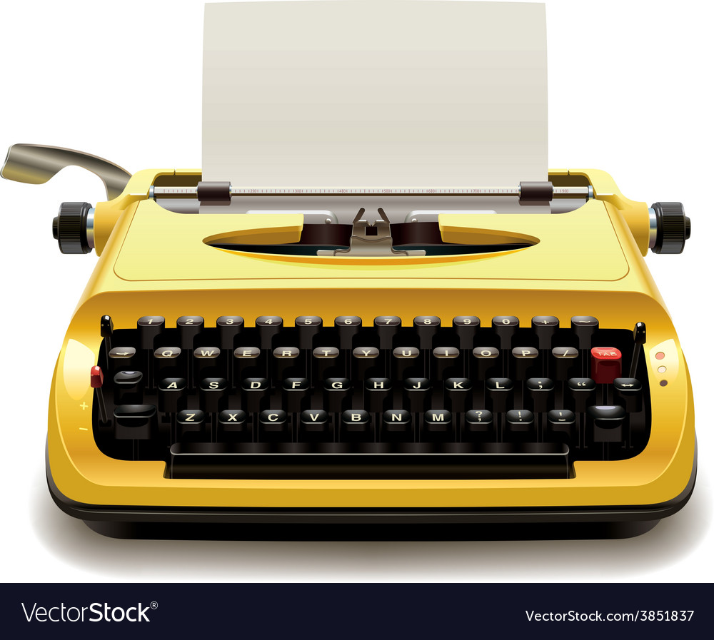 Old typewriter vector | Price: 5 Credit (USD $5)
