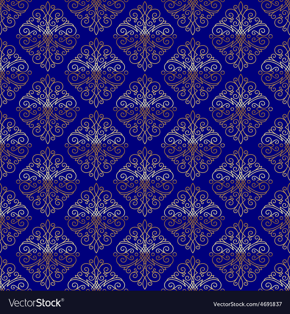 Seamless pattern with flourishes calligraphic vector | Price: 1 Credit (USD $1)