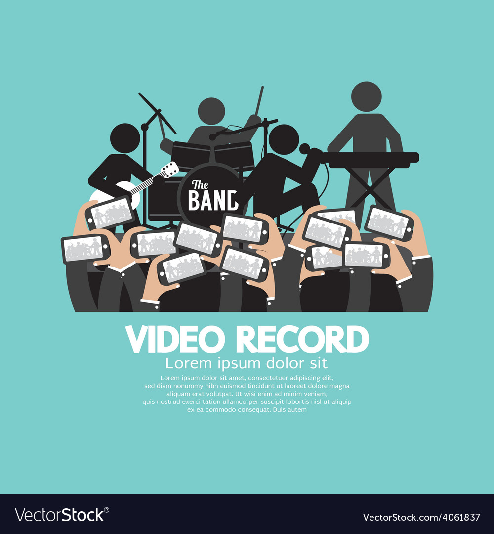 Video recording by smartphone during the show vector | Price: 1 Credit (USD $1)
