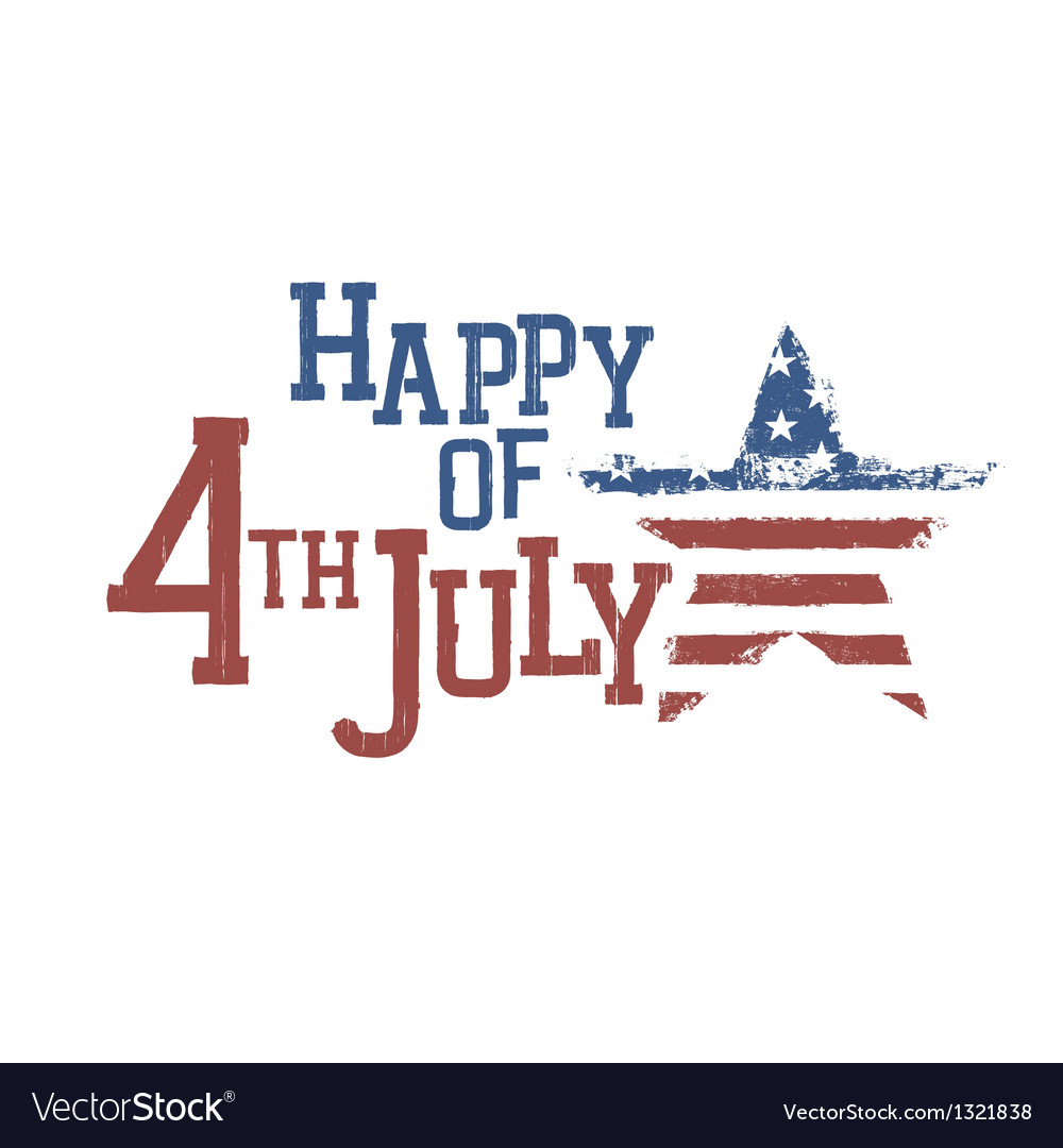 4th july typography composition vector | Price: 1 Credit (USD $1)