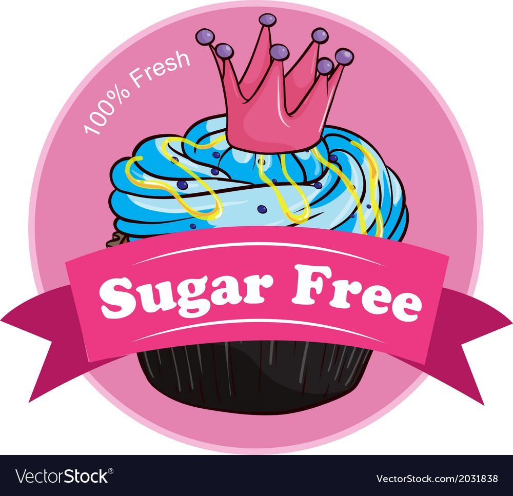 A pink sugar free label vector | Price: 1 Credit (USD $1)