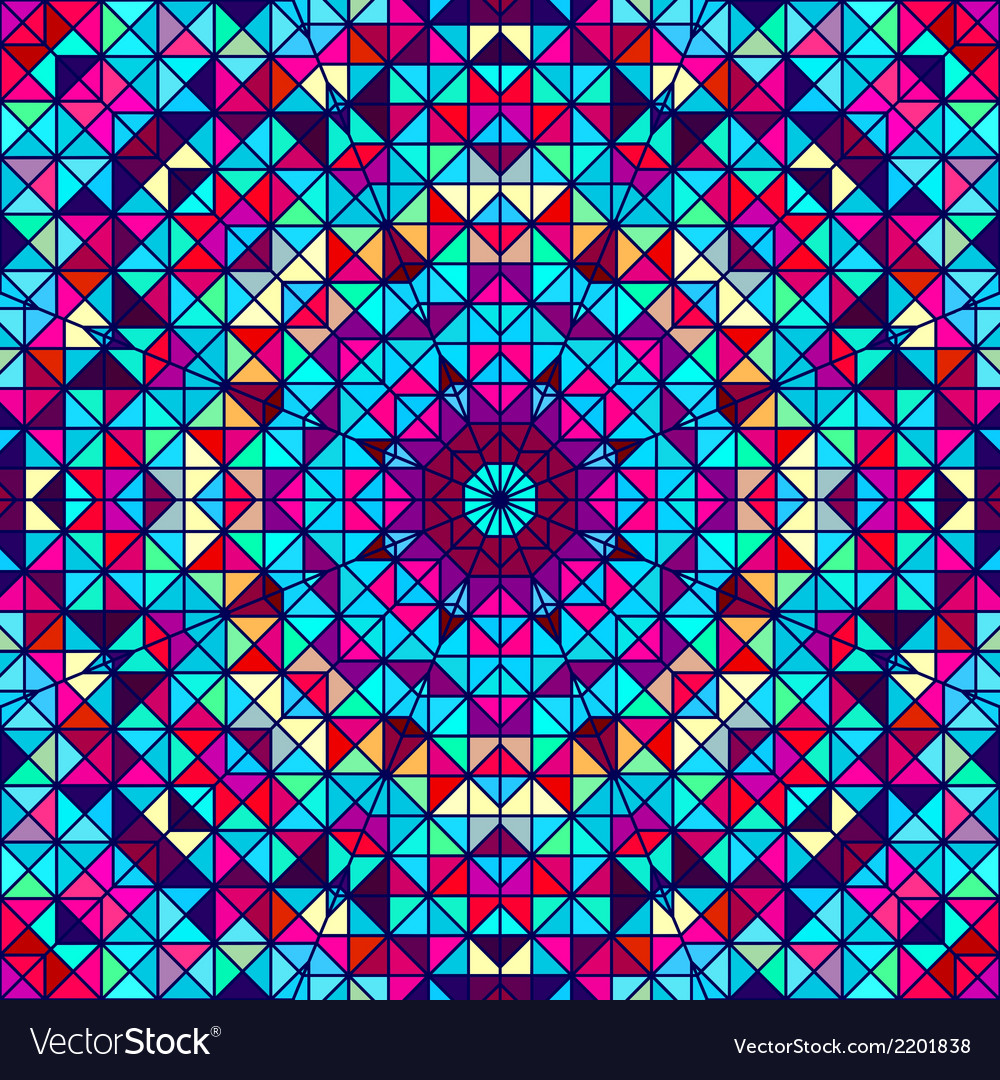 Color abstract geometric retro pattern vector | Price: 1 Credit (USD $1)