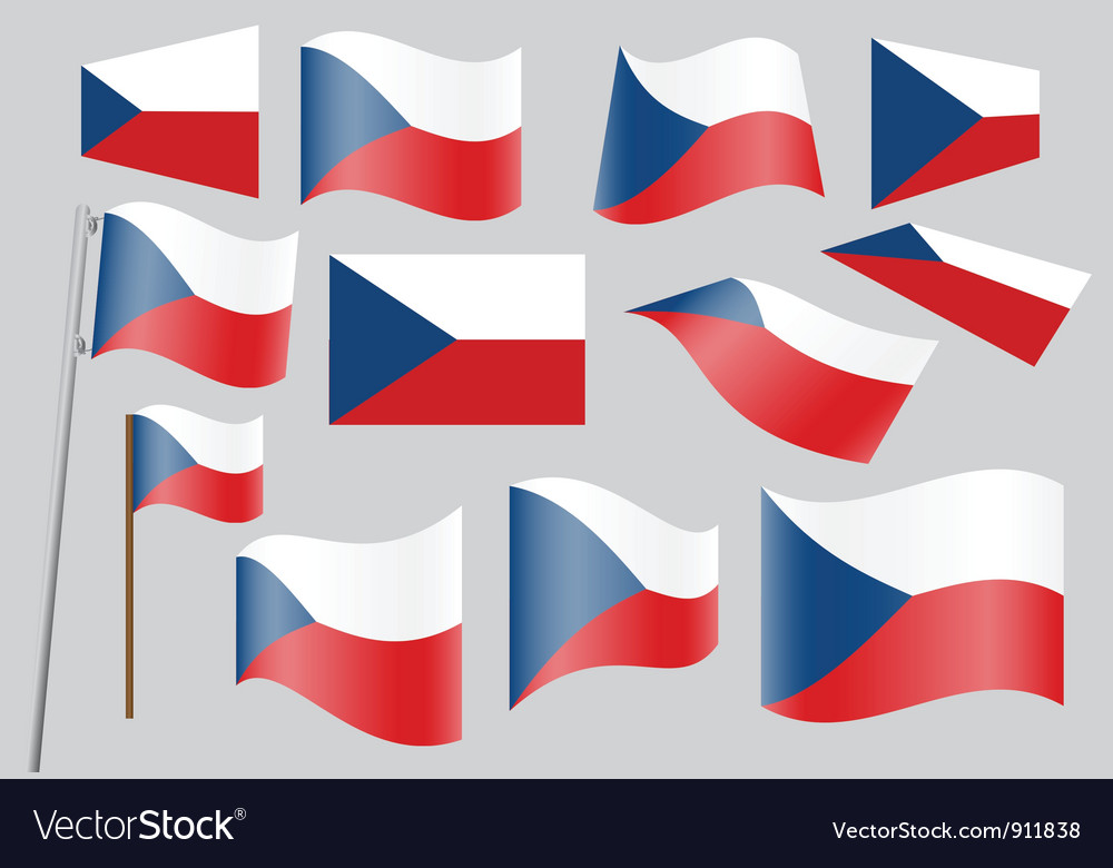 Flag of czech republic vector | Price: 1 Credit (USD $1)