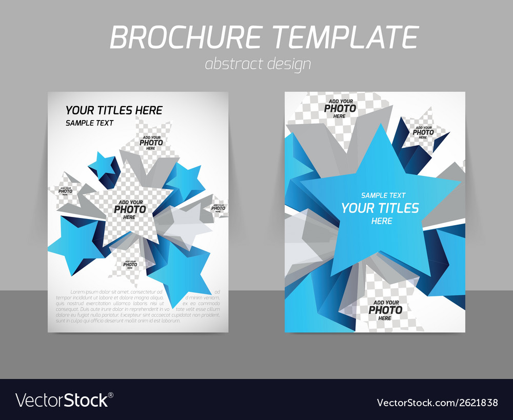 Flyer template with star vector | Price: 1 Credit (USD $1)