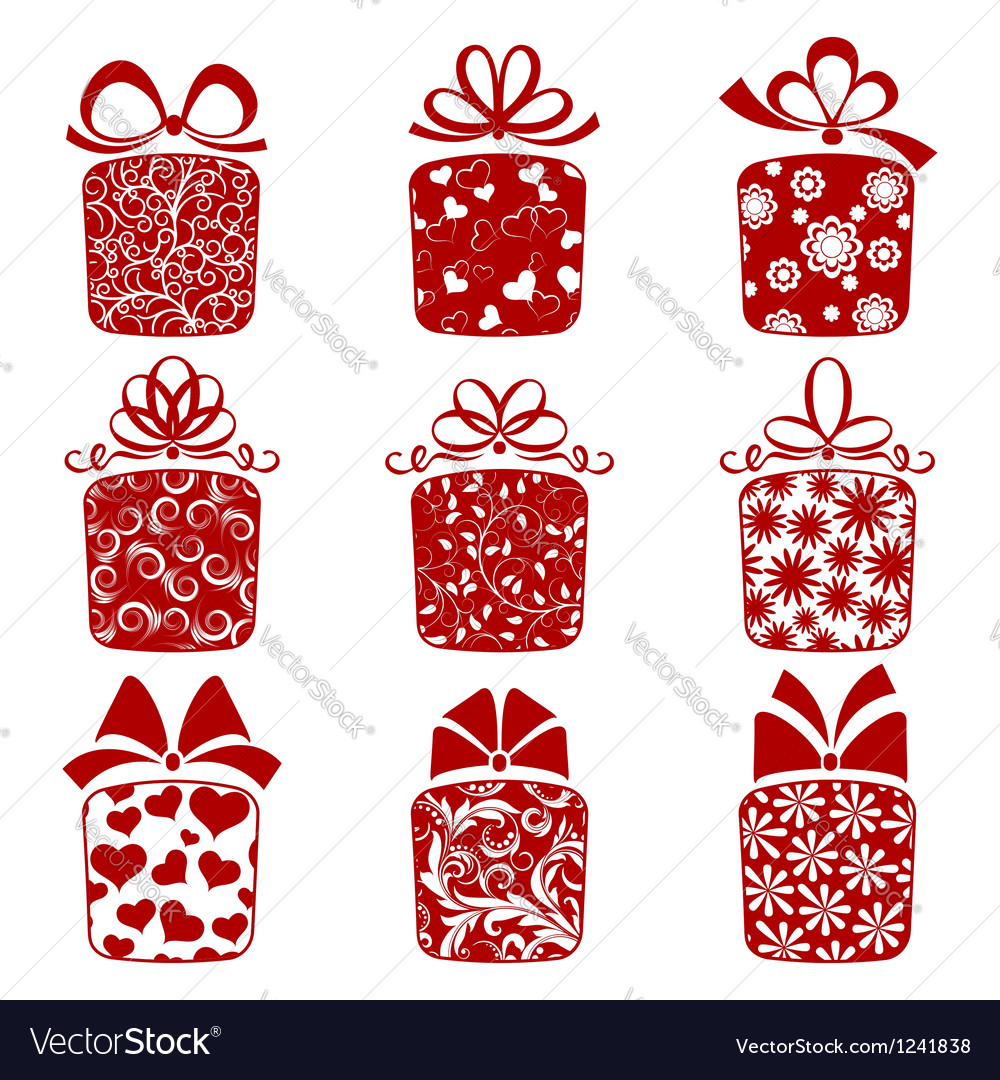 Gift boxes vector | Price: 1 Credit (USD $1)