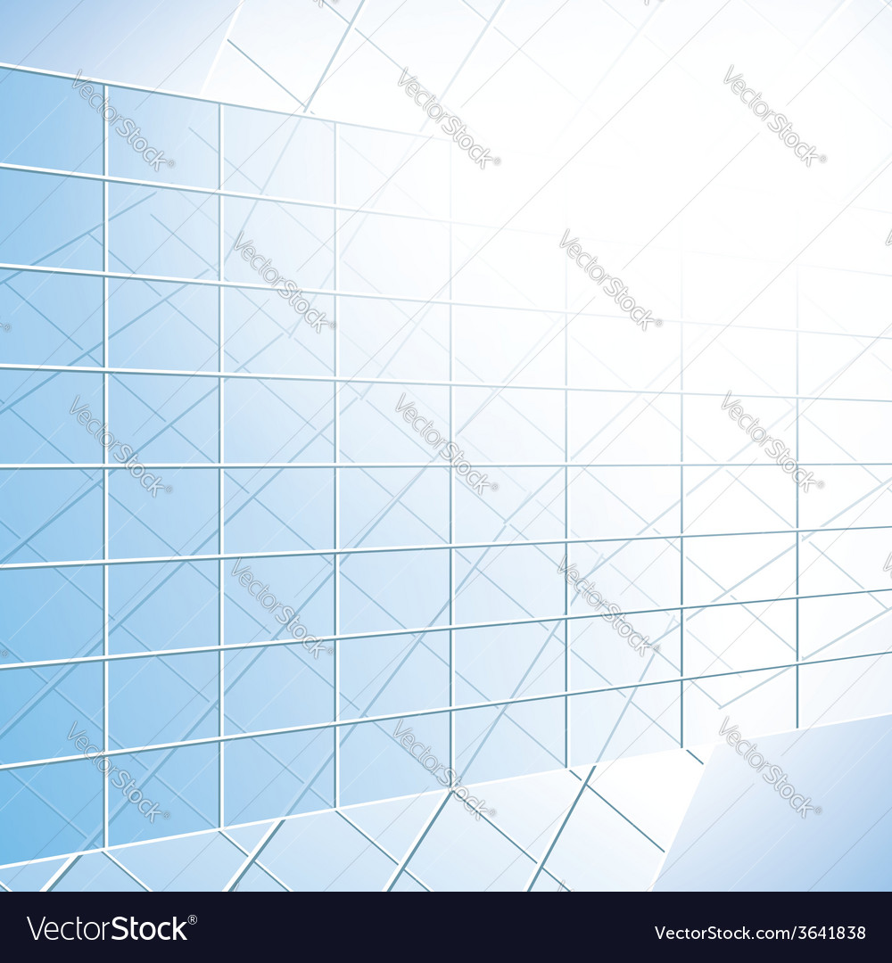 Glass windows on blue facade vector | Price: 1 Credit (USD $1)